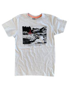 Adult Mens Short Sleeve Japanese Pond Garden Tee